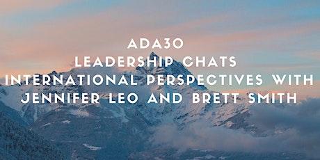 December 4 ADA30 Leadership Chats with Jennifer Leo and Brett Smith tickets