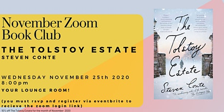November Book Club - The Tolstoy Estate by Steven Conte tickets