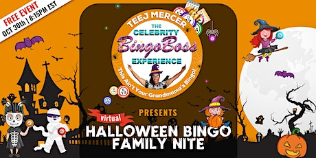 The Celebrity Bingo Boss Presents Virtual Halloween Bingo Family Nite tickets