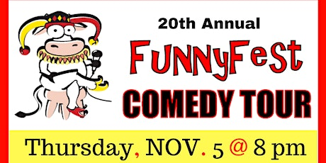 Thursday, Nov. 5 - 20th Annual FunnyFest Comedy Tour @ OUTLAWS - Saskatoon tickets