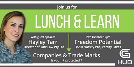 Lunch and Learn with Hayley Tarr tickets
