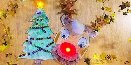 Tüfteln: Weihnachtliche LED-Karten basteln Tickets