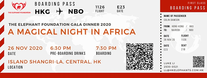 The Elephant Foundation Gala Dinner 2020 - A Magical Night in Africa image