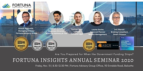 Fortuna Insights Annual Seminar 2020 : Critical Preparation Post-Funding tickets