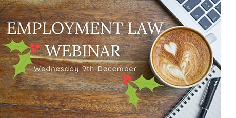 Employment Law Webinar - look back at 2020 and what's coming next tickets