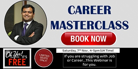 CAREER MASTERCLASS - Special Tips Webinar tickets