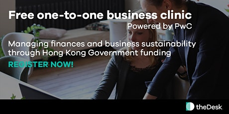 FREE one-to-one business clinic on gov't funding powered by PwC & theDesk tickets
