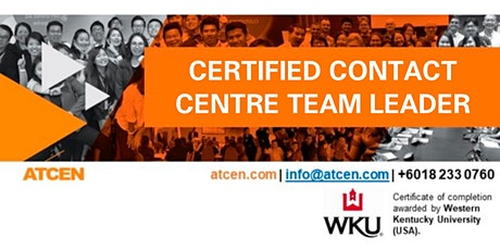 Certified Contact Center Team Leader tickets