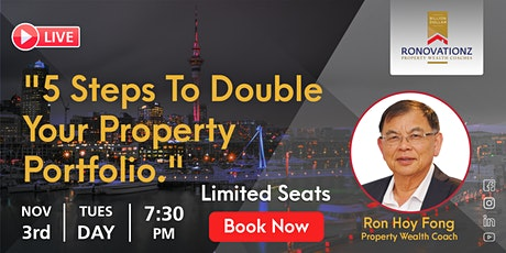 5 Steps to Double Your Property Poltfolio tickets