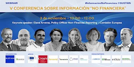 """V Conferencia sobre Información """"No Financiera"""" entradas"""