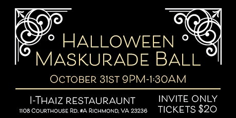 Halloween Maskurade Ball tickets