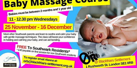Baby Massage - FREE for Southwark Residents tickets