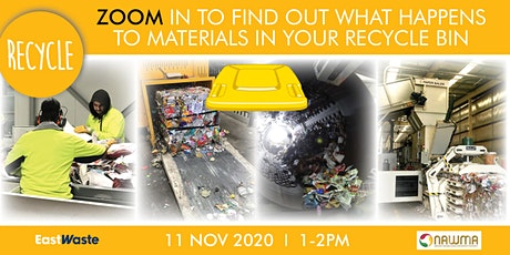Zoom in to find out what happens to materials in your recycle bin! tickets