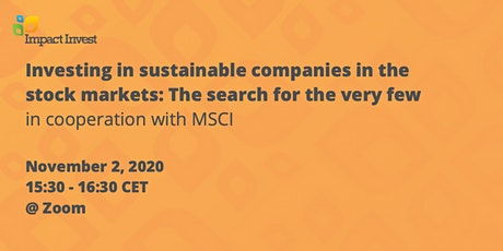 Investing in sustainable companies in the stock markets tickets