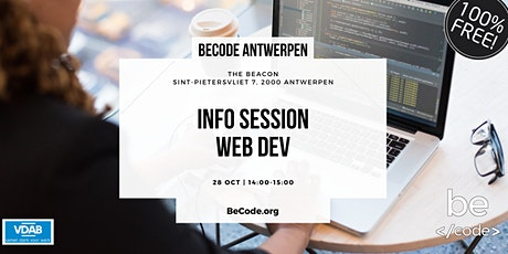 Web Dev Training - Info session by BeCode Antwerp tickets