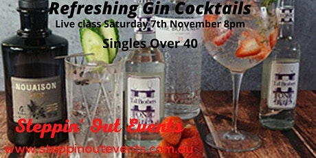Singles Over 40 - Refreshing Gin Cocktails Class by Mixologist Simon tickets
