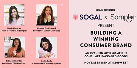 "Sampler's Marie Chevrier hosts  ""Women in CPG Packaging"" [Toronto] tickets"