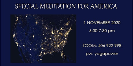 Special Meditation for America tickets