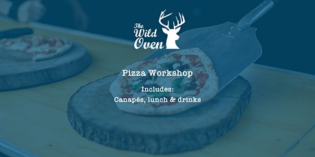 Pizza making workshop including canapés, food and drink tickets