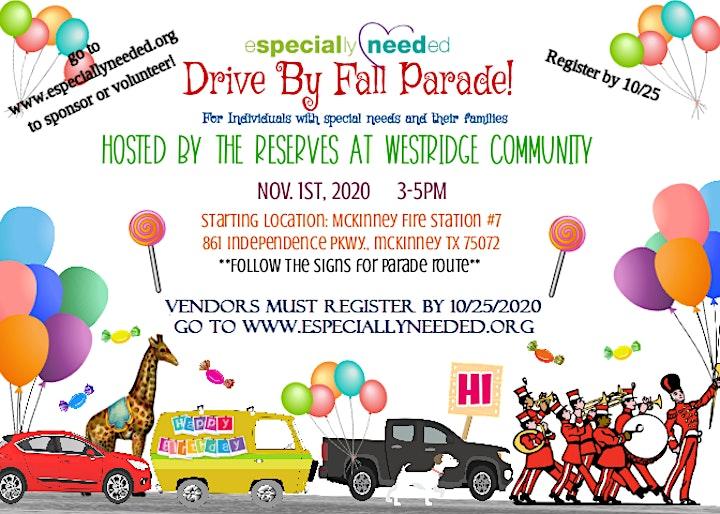 Especially Needed Fall Parade & Resource Fair 2020 Vendor Registration image