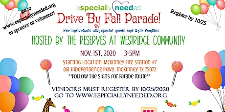 Especially Needed Fall Parade & Resource Fair 2020 Vendor Registration tickets