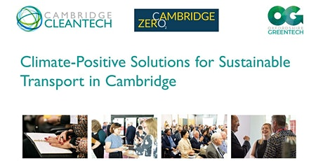 Climate-Positive Solutions for Sustainable Transport in Cambridge tickets