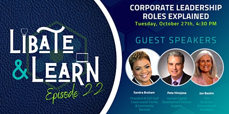 Libate and Learn 22: Corporate Leadership Roles Explained tickets