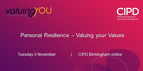 Personal Resilience - Valuing your Values tickets