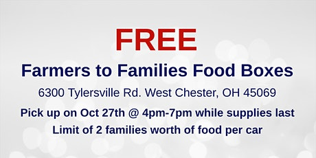 Farmers to Families Food Box Giveaway - Oct 27th tickets