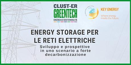 Energy storage per le reti elettriche. ONLINE biglietti