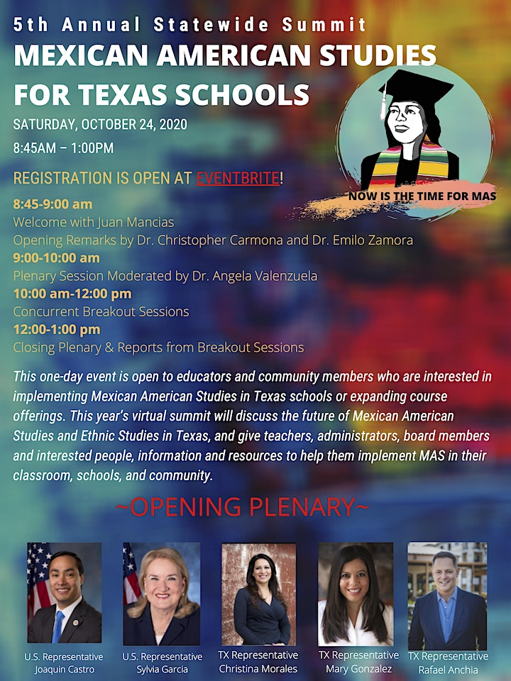 5th Annual Statewide [Virtual] Summit on Mexican American Studies for Texas image