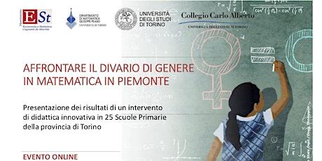 Affrontare il divario di genere in matematica in Piemonte biglietti