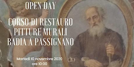 Scuola Laboratorio Restauro Affreschi Badia a Passignano Open Day biglietti