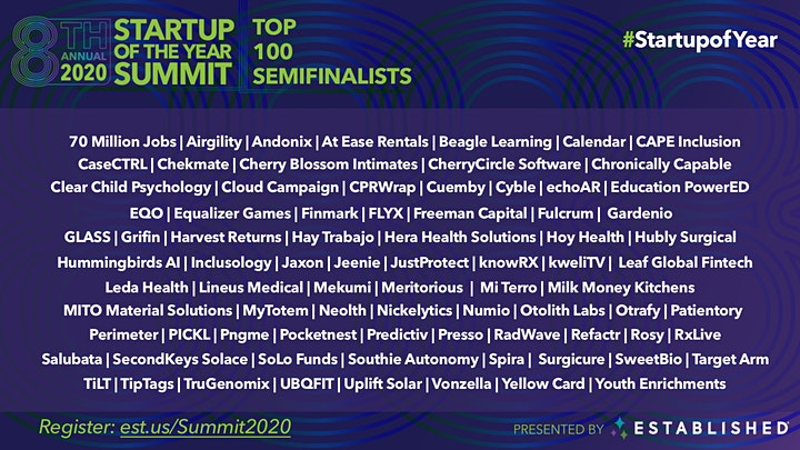 Startup of the Year Summit 2020  | Global Virtual Event image