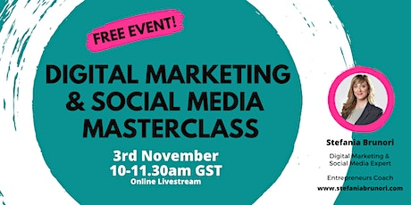 Digital Marketing & Social Media Masterclass tickets
