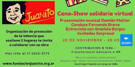¡Cena-Show Virtual Solidaria! entradas