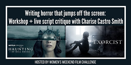 Writing horror that jumps off the screen: Workshop + live script critique! tickets