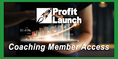 Profit Launch Business Planning 2021 | Profit Coach Member Access