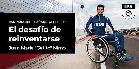 """El desafío de reinventarse  - Juan """"Gatito"""" Nimo entradas"""