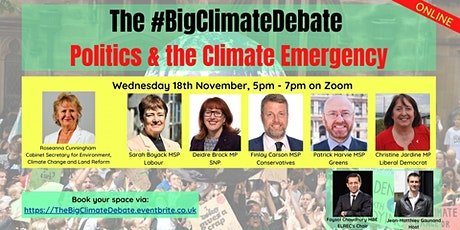 The Big Climate Debate - Politics &  the Climate Emergency tickets