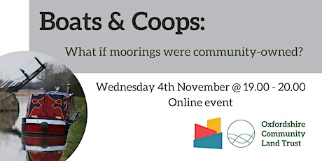 Boats & Coops: What if moorings were community-owned? tickets