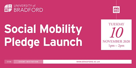 Social Mobility Pledge Launch tickets