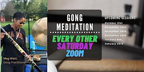 Gong Meditation (Virtual) tickets