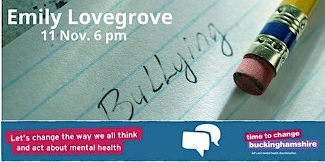 NDSA antibullying week. Dr Emily Lovegrove talks about workplace bullying tickets
