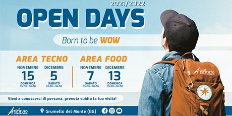 OPEN DAY 2021 ISTITUTO POLITECNICO - AREA FOOD biglietti