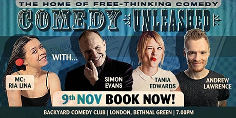 Comedy Unleashed - Simon Evans, Andrew Lawrence, Tania Edwards tickets