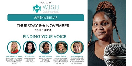 WISH London Online Workshop: Finding Your Voice tickets