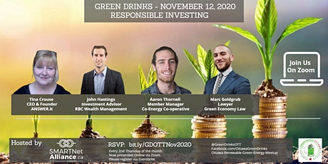 Virtual Green Drinks November - Responsible Investing tickets