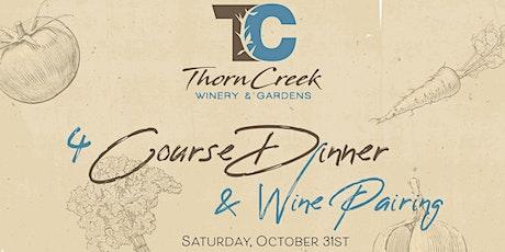 Halloween 4 Course Dinner & Wine Pairing tickets