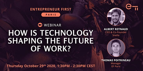 How is technology shaping the future of work? - A webinar by EF Paris tickets